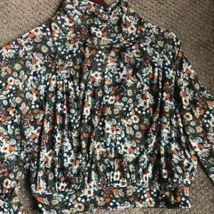 Long Sleeved Floral Crop Blouse from Free People
